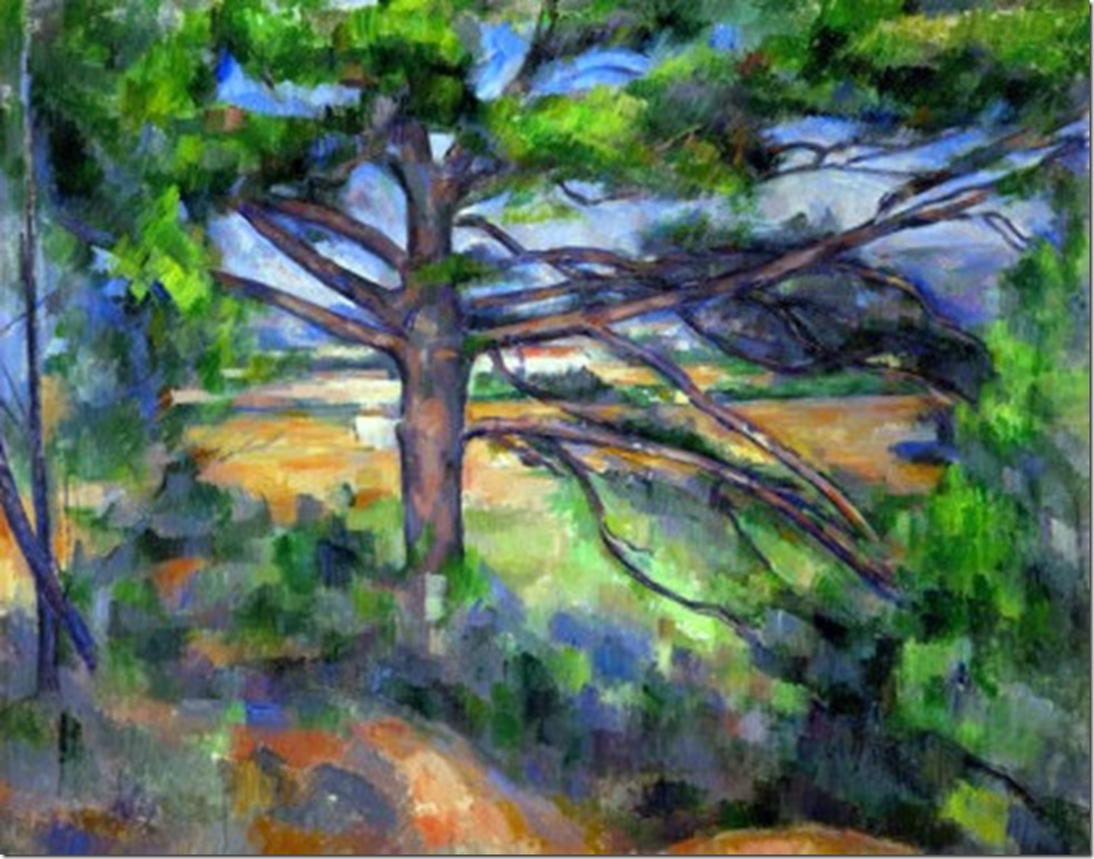 paul-cezanne-large-pine-tree-and-red-earth-1890-1895